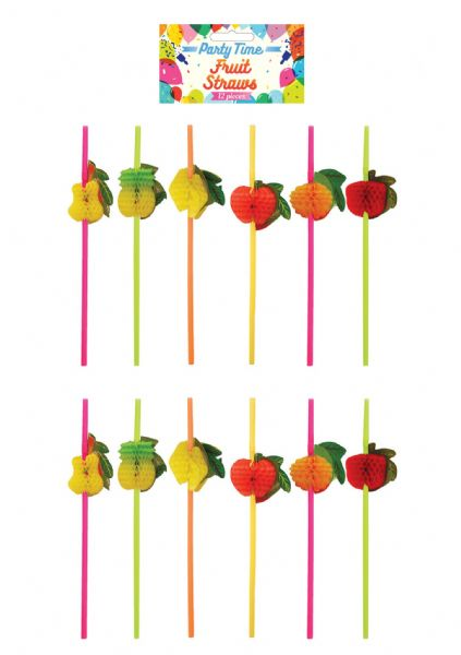 Honeycomb Fruit Straws (12pk)